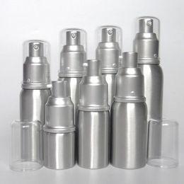 Wholesale Wholesale Treatment Pumps - 20ml 30ml 50ml aluminum Empty refillable Airless Lotion Treatment Pump Cosmetic Dispensing Bottles lotions, liquid bottle F2017749