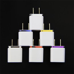 Wholesale Dual 1a Usb Phone Charger - Universal US EU Plug 5V 2.1 1A Dual USB AC USB Charger Wall Power Adapter for ipad iPhone Samsung HTC Cell Phones