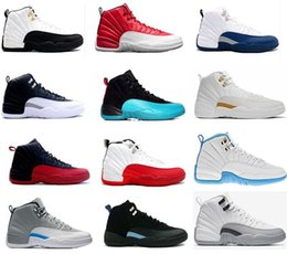 Wholesale High Quality Pu Leather - High Quality Air Retro 12 Basketball Shoes Men Women 12s OVO White Gym Red Wolf Grey Flu Game Sports Sneakers