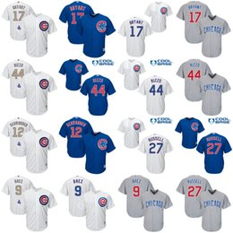 Wholesale Boy Blue - Youth Chicago Cubs Jerseys #17 Bryant #44 Rizzo #9 Javier Baez #12 Schwarber #3 Ross #49 Arrieta #18 Zobrist Baseball Gold Jersey