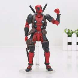 Wholesale Dolls Heroes - 16cm Cartoon Super hero X-MEN Deadpool PVC Action Figure Doll Model Toy Collection Series No.001