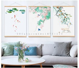 Wholesale Chinese Decorations Living Room - Small fresh and elegant flower living room bedroom restaurant entrance decoration painting Nordic modern simple new Chinese painting