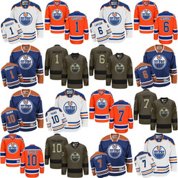 Wholesale Coffey Jersey - 2017 new 1 Laurent Brossoit 6 Adam Larsson 7 Paul Coffey 10 Esa Tikkanen Edmonton Oilers NHL Ice Hockey Third Mens Premier Stitched Jerseys
