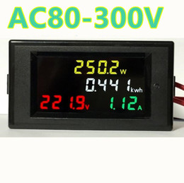 Wholesale Panel Meters - 4IN1 HD color screen LED Display 180 degrees Flawless panel Voltmeter ammeter energy meter active power AC 80-300V 100A