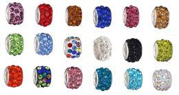 Wholesale Silver Ball Chain Bracelet - Fits Pandora Charm Bracelet Shambala Beaded Jewelry Shambala Charm Disco Ball Crystal Silver Beads Charms For Diy European Snake Chain Women
