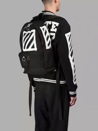 Wholesale United Backpacks - OFF WHITE OW New men and women couples classic black twill printed canvas shoulder bag Europe and the United States trend
