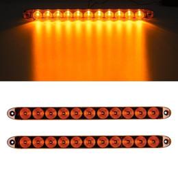 "Wholesale Led Lights Amber Trailer - 15"" Amber LED Signal light Bar 2 Function 11 Diodes Surface Mount Trailer Boat"