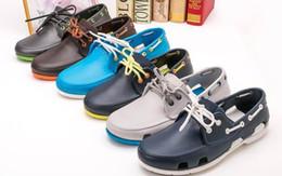 Wholesale Heel Boats - 2016 new fashion free shipping men's beach sailing boat shoe lace sandals men sandals multicolor