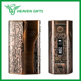 Wholesale Battery Thread Cover - WISMEC Reuleaux DNA250 TC MOD Limited Edition W O Battery Classic Bronze with Punk style Stainless steel thread & magnetic back cover