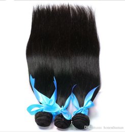 Wholesale Real Brazilian Hair Manufacturers - Brazilian Hair Weave Bundles Best 7A 50g pc 5pcs Real manufacturers selling straight hair natural color