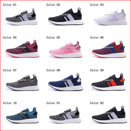 Wholesale Cheap White Socks - Cheap Hight Quality Mens Womens Running Shoes NMD R2 Primeknit Boost Socks Sneakers Men Women Black White Jogging Tennis Sports Shoes
