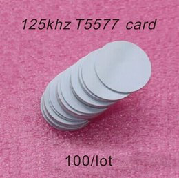 Wholesale id writer - Wholesale- 100pcs lot Writer Waterproof 125KHz T5577 Rfid ID Coin Tags Reader