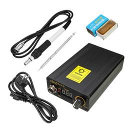 Wholesale Temperature Solder Iron - Best Price Digital Soldering Iron Station Temperature Controller +EU Plug Temperature 180 - 435 Degrees+T12 Handle 138x88x38mm