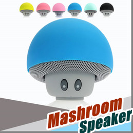 Wholesale Tablet Pc Stand Speaker - Cartoon Mashroom Mini Bluetooth Speaker Portable Outdoor Subwoofers Loudspeaker For iphone tablet pc with Stand Holder and Sucker