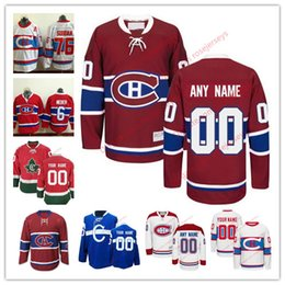 Wholesale Montreal Canadiens Hockey Jersey - Stitched Custom Montreal Canadiens mens womens youth OLD BRAND Customized White Winter Classic third Blue Home Red CH CD hockey Jersey S-4XL