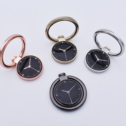 Wholesale Watches Phone Gold - Watch Finger Ring Holder Universal Mobile Phone Smartphone Watch Stander Finger Grip for iPhone Smart Phone Luxury Couple Mode