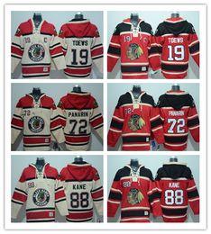 Wholesale Ice Hockey Hoodies - Men's Embroidery Chicago Blackhawks Hoodie #19 Jonathan Toews #88 Patrick Kane #72 Artemi Panarin Hockey Hoodies Jerseys Free Custom