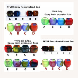 Wholesale Baby Hot Cap - Hot! Epoxy Resin Expansion Tube Replacement Resin Tube Caps for SMOK TFV12 TFV8 Baby Big Baby Tank Vape Atomizer