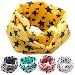 Wholesale Wholesale Cotton Scarves Stars - Wholesale- 2016 Top Quality Stars Children's Cotton Neckerchief Kids Boy Girl Scarves Shawl Unisex Winter Knitting N83Y 7FRD 7NTN