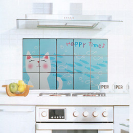 Wholesale Product Cabinets - 75*45cm Kitchen Wall Stickers Foil oil sticker Decal Home Decor Art Accessories Decorations Supplies items Products