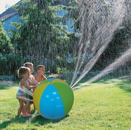 Wholesale Wholesale Elephant Plastic Toys - 30inch Summer Inflatable Water Spray Balloon Outdoors Play In The Water Beach Sprinklers Ball water fun for children