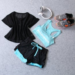 Wholesale Movement Order - Summer yoga movement women's fitness running skinny shorts fake two pairs of pants three sets of yoga clothes Sweatjogging