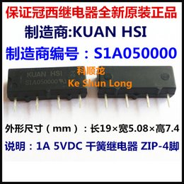 Wholesale Reed Relay - Free shipping lot (10pieces lot) 100%Original New KUAN HSI S1A050000 5VDC S1A120000 12VDC S1A240000 24VDC 1A ZIP-4 Dry reed relay