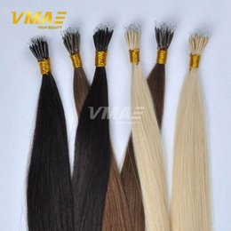 "Wholesale Wholesale Nano Ring Hair Extensions - Nano Ring 1g strand 50s Queen Hair Products 16""To 24"" Stick Tip Nano Ring Hair Extensions Raw Virgin Remy Straight Hairpiece VMAE Hair"