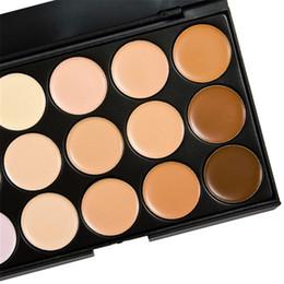 Wholesale Neutral Colors - Wholesale- 15 colors Face Concealer Neutral Palette 15 color Makeup tools scar cream Face Camouflage Body Foundation