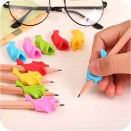 Wholesale Dolphin Baby - Wholesale- 20 pcs High quality baby fish dolphins grip pen implement Children's pencil grip Correct posture to hold pen