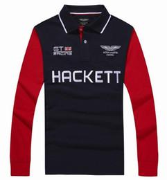 Wholesale Racing Business - Winter London Hackett Mens Polo Shirts Casual Cotton Long Sleeve HKT GT Racing POLO Shirt Summer Business Men Polos Tops