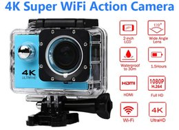 Wholesale Fixed Focus Cameras - Ultra HD 4K Action Camera 30m waterproof 2.0' Screen 1080P 16MP Sport Wifi Camera extreme HD Camcorder
