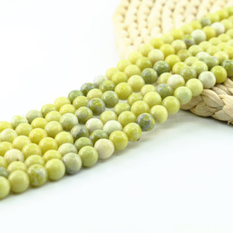 Wholesale Black Green Jade - Natural Genuine Olive Jade Round Gemstone Jewelry Making Loose Beads 4 6 8 10mm 15 inch Strand Per Set L0079#
