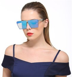 Wholesale Pink Drivers - Fashion Brand Designer Square Sun Glasses Mirror Women Beach Driver Sunglasses Men Eyeglasses Hip Hop rose gold Frame Lady Male 2017