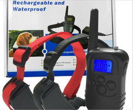 Wholesale Anti Bark Remote Collar - New Arrival Dog Training collar with Remote waterproof Rechargeable Electronic Shock Training Anti Bark E-Collar for 2 dogs