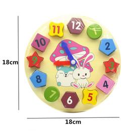 Wholesale Baby Girls Clock - soldier Wooden Blocks toys Digital Geometry Clock Children's Montessori Educational Toy For Baby Boy Girl Gift