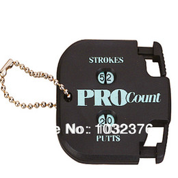 Wholesale Golf Stroke Counters - Wholesale- Free Shipping Golf Stroke Shot Putt Score Counter Two Digits Display Key Chain Count Scoring Keeper