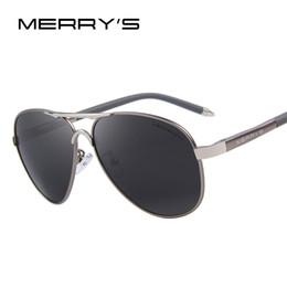 b3bd0fd74e3ff Atacado-MERRY S homens clássicos óculos de sol HD Polarizado alumínio  Driving óculos de sol Luxo máscaras UV400 S 8513
