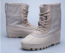 Wholesale Cheap Flat Heeled Boots - 2019 new Hot Sale Kanye West shoes 950 boost discount cheap 950 boots men shoes unisex High shoes duckBoot free shipping superstar boots