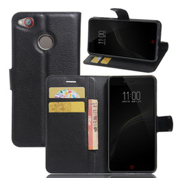 Wholesale S Mini Wallet Case - For ZTE Nubia Z11 mini S Fashion Litchi Pattern TPU Leather Wallet Stand Case Cover with Card Slot