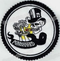 patch crâne punisher Promotion Personnalité Crâne Punisher Manchette Mort Patch Brodé Moto Biker Fer Sur Patch pour Veste Gilet Cavalier Patch Livraison Gratuite