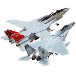 Wholesale Eagle Toys Plastic - Terebo 1:100 Scale Military Model Toys F-14 Tomcat F-15 Eagle Fighter Aircraft Plane Model For Collection Gift Home Office Decoration