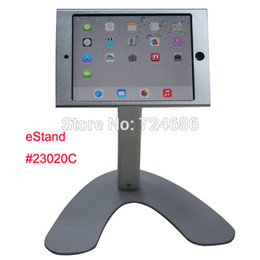 Wholesale Ipad Mini Aluminium Case - Wholesale- for mini iPad table holder hard case with lock desktop stand mount retail restaurant menu ording shop bank hotel trade fair