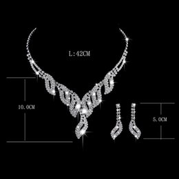 Wholesale Costume Jewelry Diamond Sets - Wedding Bridal Jewelry Sets For Women Bijoux Necklace Costume Silver Plated NO 457 Woman jewelry