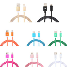 Wholesale Iphone Cable Usb Lighting - TYPE C Micro USB Cable 3Ft Nylon Lighting Braided 2.0A Metal USB Data Sync Quick Charger Cord for Android Samsung Note 8