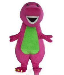 Wholesale Japanese Costumes Adult - 2018 Profession Barney Dinosaur Mascot Costumes Halloween Cartoon Adult Size Fancy Dress