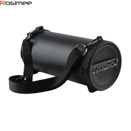 Wholesale Car Bass - Wholesale- Rosimee 89mm Big Bass Outdoor Bluetooth Speaker Wireless Sports Portable Subwoofer Bike Car music Speakers Radio FM Mp3 player