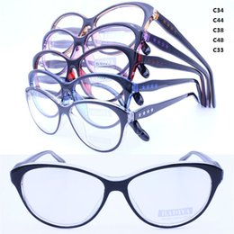 Wholesale Wholesale Colorful Optical Frames - Wholesale- 20pcs a lot wholesale colorful 78227 injection acetate cateye shape lightweight bicolor with stars optical eyeglass frames