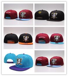 Good Selling neueste Mighty Hockey Knochen Hysteresenhüte Anaheim Ducks Knochenkappe Flat Fashion NHL Hats Sport Günstige Herren Frauen Baseballmützen von Fabrikanten