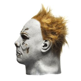 Wholesale celebrity movies - Wholesale-Horror Movie Halloween Michael Myers Mask, Adult Party Masquerade Cosplay Latex Mask